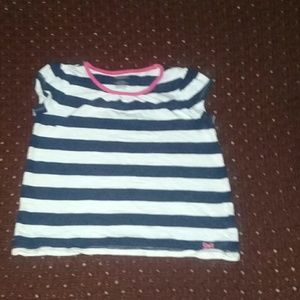Gymboree blue/ white girls top size 6